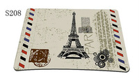 Paris Eiffel Tower  SILICON SLIM GAMING MOUSE HIGH QUALITY PAD MOUSEPAD MAT US