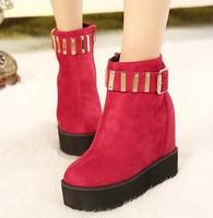 Platform high-heeled shoes metal boots platform elevator platform comfortable boots round bottom women's foam toe shoes 10 - 29