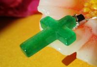 Mysterious Tibet  Race jewelry Christian gifts natural jade cross pendant