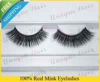 Free Shipping 3pcs/lot k005 Factory Price 100% real mink eyelash Handmade siberian mink fur eyelash thick false eyelashes