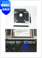 wholesale high quality NEW 12.7mm Universal SATA 2nd Hard Driver caddy Aluminum with LED light Caddy  5pcs/lot