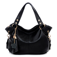 Freeshipping new 2013 women handbag fashion all-match tassel messenger bags women leather handbags