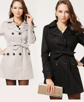 Free shipping! 2013 autumn winter Women;s slim Windcoat plus size female outerwear Leusuit Suit