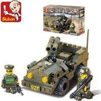 Sluban New Army Double Gun SUV Educational Building Blocks Baby child Learning education Develop Intelligence Toy