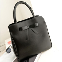 2013 autumn and winter women's cowhide handbag quality genuine leather shoulder bag fashion handbag fashion star bow