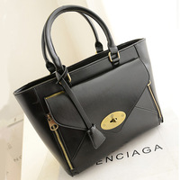 Genuine leather bag 2013 fashion bag high quality luxury women's cowhide handbag one shoulder vintage handbag