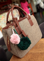 European and American winter new Korean woolen yarn ball canvas handbags diagonal portable shoulder bags Post