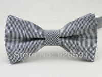 fashion bowtie/Two silver and black/Fine plaid design/man Leisure  formal clothes bowknot, tie/free shipping