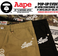 2013 spring neighborhood aape buku hniz male casual pants