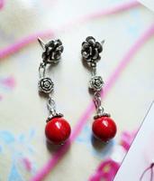 Handmade national accessories tibetan silver stud earring diy silver female earrings yc017