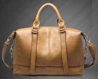 free shipping 2014 designer women oil leather tote bag real leather lady shoulder handbag leather banatural leather bolsas
