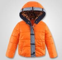 Autumn winter kids parka down children's clothing for children boys girls child wadded jacket denim hooded cotton-padded jacket