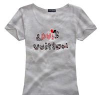 Fashion t-shirts cotton woman flock printing slim short-sleeve women Tshirt  basic tops 10colors hot sale!