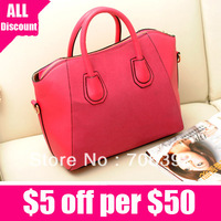 New 2013 Women's Handbag Autumn And Winter Nubuck PU Leather Handbag Messenger Bag Free Shipping
