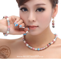 EEL necklace stud earring bracelet the wedding set pearl accessories time gift FREE SHIPPING