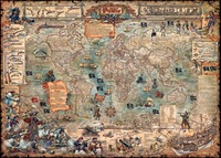 - heye puzzle map of the world pirate version of the 3000 adult toy