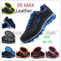2013 Hot Classic Trainer Leather 09 MAX Running Shoes Wholesale Retail Unisex Athletic sport shoes! Free shipping with best
