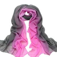 Hot-selling 2015 georgette long silk scarf gradient color women's scarf