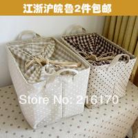 FREE SHIPPING  zakka fluid storage basket storage basket storage box fabric tote