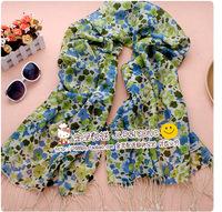 Ultralarge fashion flower scarf women's cape