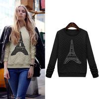 Free Shipping autumn winter beading vestidos beading plus wool casual dress big size women sweater DM132066