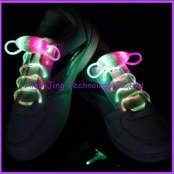 3th Gen Fiber Optic LED shoelaces neon led strong light flashing shoelace led flashing shoelace(China (Mainland))