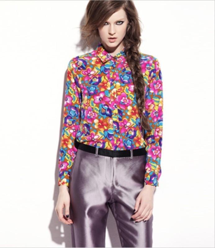 Блузка Разноцветная