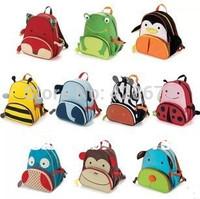 Wholesale 100pcs Mini Oxford Cute Kid Children Backpack Zoo Cartoon Animal Toddlers Backpack School Bag For Children School Bags