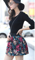 New  Women Skirt Winter  2013 Fashion Beautiful  flowers skirt
