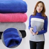 2014 new winter warm sweater Korean hit color thick velvet long-sleeved turtleneck shirt bottoming