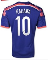 #10 KAGAWA football jersey 2014 Brazil World Cup top thai Japan home blue soccer jersey A++japan top Thai quality soccer Clothes