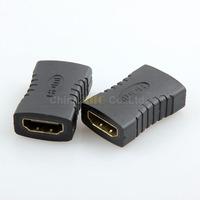 2pcs 19 pin HDMI Female to HDMI Female Adapter Plug HDMI Rca Extension cord Adapter HDMI Plug Video Converter Free Shipping