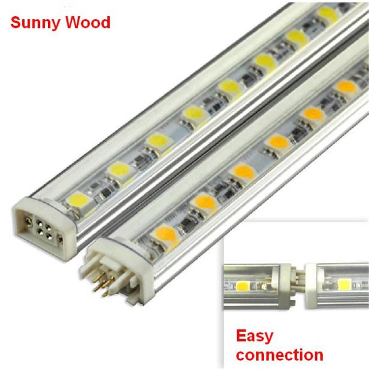 Transparente rigide bande de led 5050 72led/1m, led bande rigide, la lumière bar, la lumière du cabinet led-hs-st-50-1m