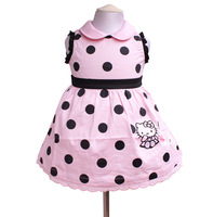 girls dress cartoon hello kitty summer clothes big dot girl sleeveless princess childreb baby dress free shipping