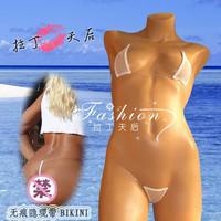 European New Arrival Super Sexy Women's Gauze Bikini Set Perspective beach bikini set  For Women Free Shipping