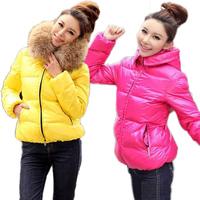 2013 Fashion Ladies Winter thick Hoodies Zipper Jacket,Woman Fur Collar Jackets Parka Outerwear Stock Ready Drop Free Shipping