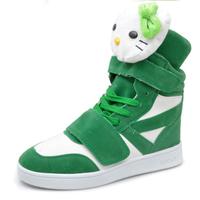 Hellokitty cat high-top shoes flat casual shoes suede women's shoes star cartoon board shoes