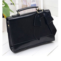 Free Shipping 2013 hot retro bow bag handbag Messenger bag Openwork Carved  handbag #x0161