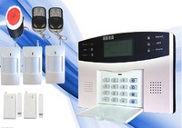 LCD Screen 850/900/1800/1900 Home GSM SMS Security Alarm System Detector Kits Best Sell