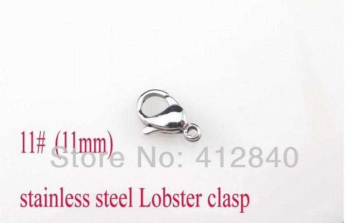 11# 316L stainless steel Lobster clasp hook fashion jewelry accessories chain necklace parts(China (Mainland))