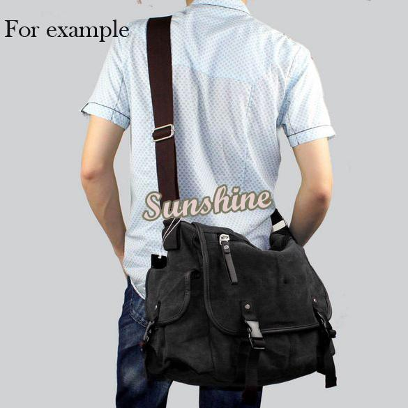 Wholesale 2pcs/lot Men Casual Vintage Canvas Cross Body Messenger Book Bag Shoulder Bag School 16874(China (Mainland))