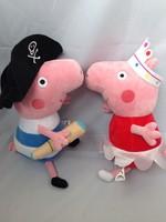 Free shiping/Hot sale big size 30cm Cute Peppa pig With George Pig Plush Doll Toy Stuffed Plush Cartoon Plush Kids Gift