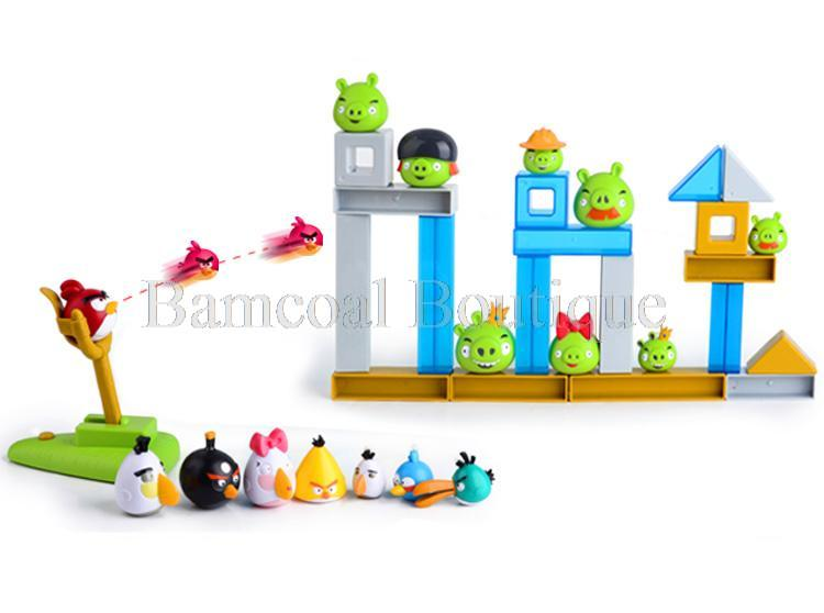 Anime Kids Toys Birds Game Dolls Christmas Birthday Gifts For Children DIY Desk Top Toy Actual Combat Birds VS. Pigs(China (Mainland))