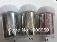 Free shipping 1Roll 120m*2.5cm ( 6designs for choose)   fashionable nail art Transfer foil sticker supplies