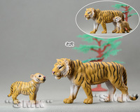 Big Tiger and baby Tiger. 1 set= 2 pieces. lovely. The Tiger animal model. toys for children