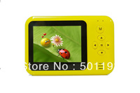 2.4 inch display lithium battery yellow digital camera