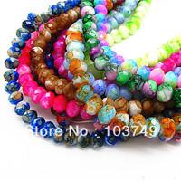8mm Free Shipping! New Fashion AAA Top Quality Glass BeadsJewelry DIY Making Jewelry Beads Spraying Beads In Bulk HC308