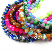 8mm Free Shipping! New Fashion AAA Top Quality Glass BeadsJewelry DIY Making Jewelry Beads Spraying Beads In Bulk HC308