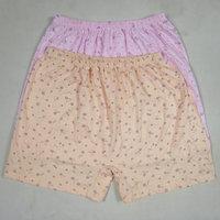 free shipping Solid color quinquagenarian boxer panties cotton 100% women's 100% cotton panties 223