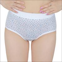 free shipping 6 100% cotton print broadside high waist briefs panties women's ab 0182